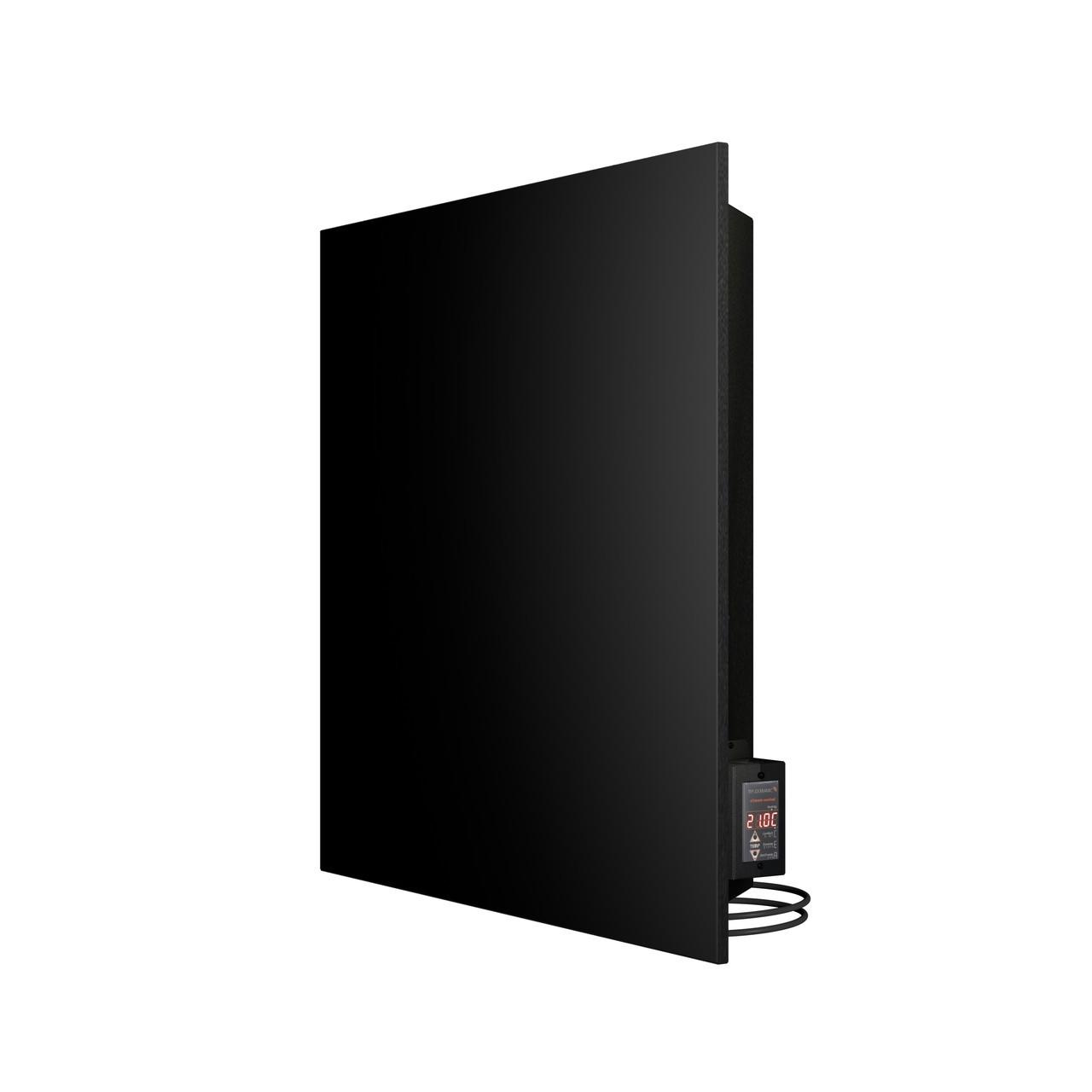 Керамічний інфрачервоний обігрівач (конвектор електричний) Теплокерамик TC500C з терморегулятором (Чорний)