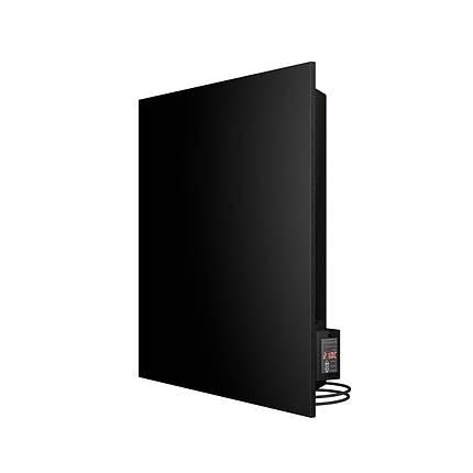 Керамічний інфрачервоний обігрівач (конвектор електричний) Теплокерамик TC500C з терморегулятором (Чорний), фото 2