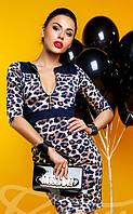 Эффектное леопардовое платье S M