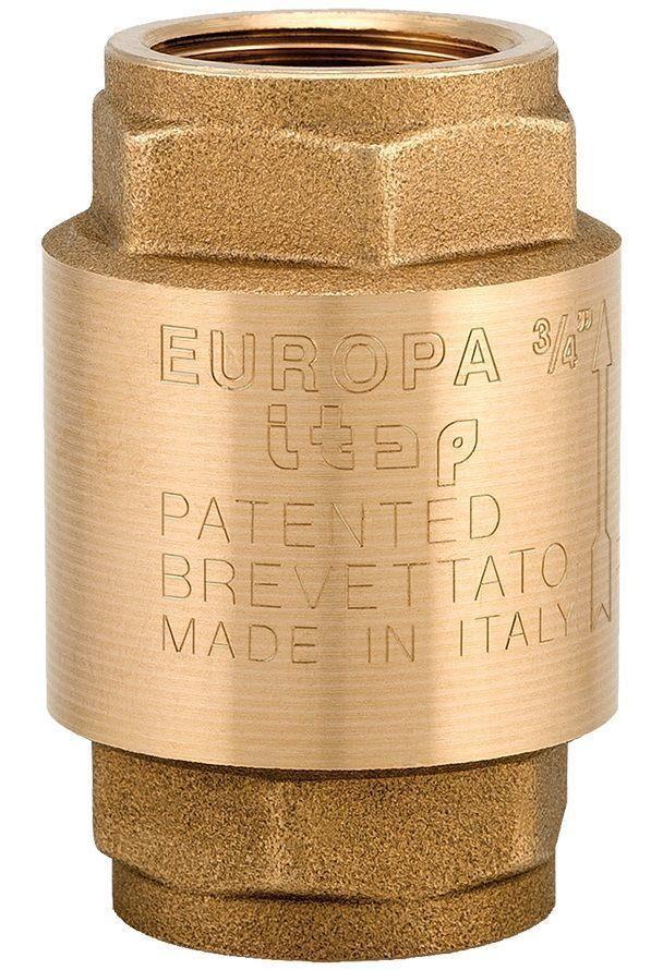 """Клапан зворотного ходу води ITAP EUROPA 100 з латунним штоком 1"""""""