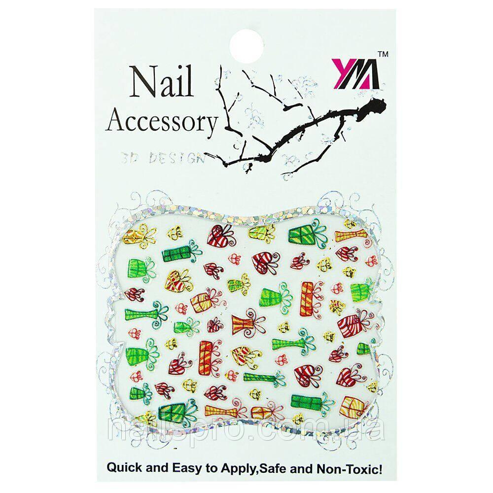 Наклейки для дизайну нігтів Nail Accessory 3D Design № 06