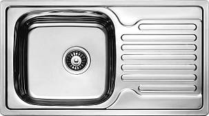 Мийка кухонна Cristal прямокутна з полицею, врізна 780x430x180 SATIN, фото 2