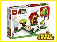 Конструктор LEGO Super Mario Будинок Маріо і Йоші. Додатковий рівень для дітей від 6 років