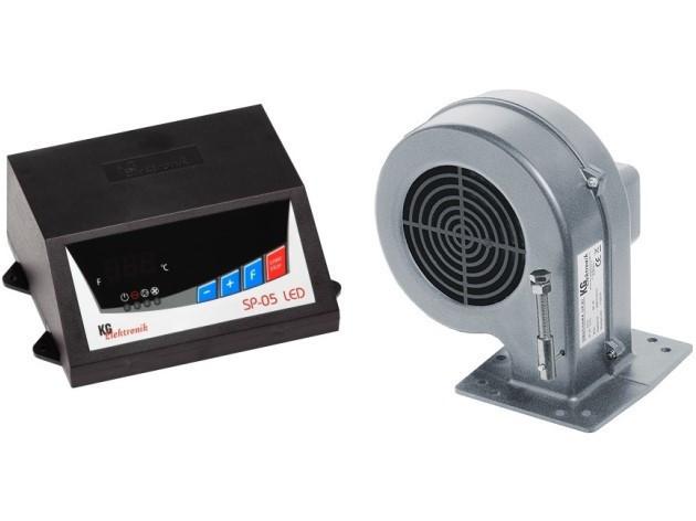 Контролер твердопаливного котла Kg Elektronik SP05 LED+DP02(ВЕНТИЛЯТОР)
