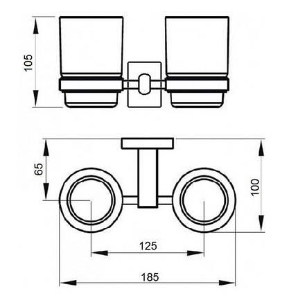 Стакан подвійний GF (BLB)S-2608, фото 2
