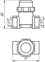 """Фильтр грубой очистки Solomon 8014 никель ВВ 1/2""""  с отстойником, фото 3"""