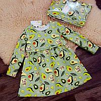 Платье для девочки авокотики с начесом Five Stars PD0401-116p