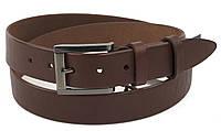 Прочный мужской кожаный качественный ремень 3,5 см беж (103860) Украина