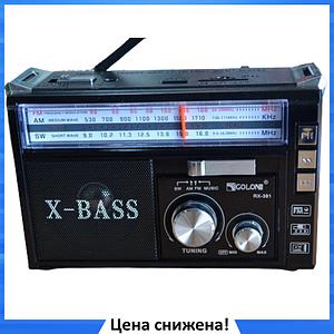 Радиоприемник с фонарем Golon RX-381 - Радио с MP3, USB/SD и LED фонариком Черный