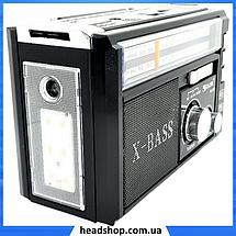 Радиоприемник с фонарем Golon RX-381 - Радио с MP3, USB/SD и LED фонариком Черный, фото 2
