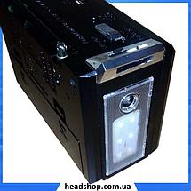 Радиоприемник с фонарем Golon RX-381 - Радио с MP3, USB/SD и LED фонариком Черный, фото 3
