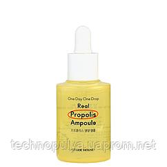 Успокаивающая ампульная сыворотка для лица с прополисом Etude House One Day One Drop Real Propolis Ampoule 30
