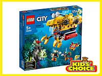 Конструктор LEGO City Океан: розвідувальний підводний човен для дітей від 5 років
