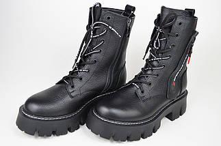 Ботинки зимние на платформе Teona 20209 39 Черные кожа, фото 2