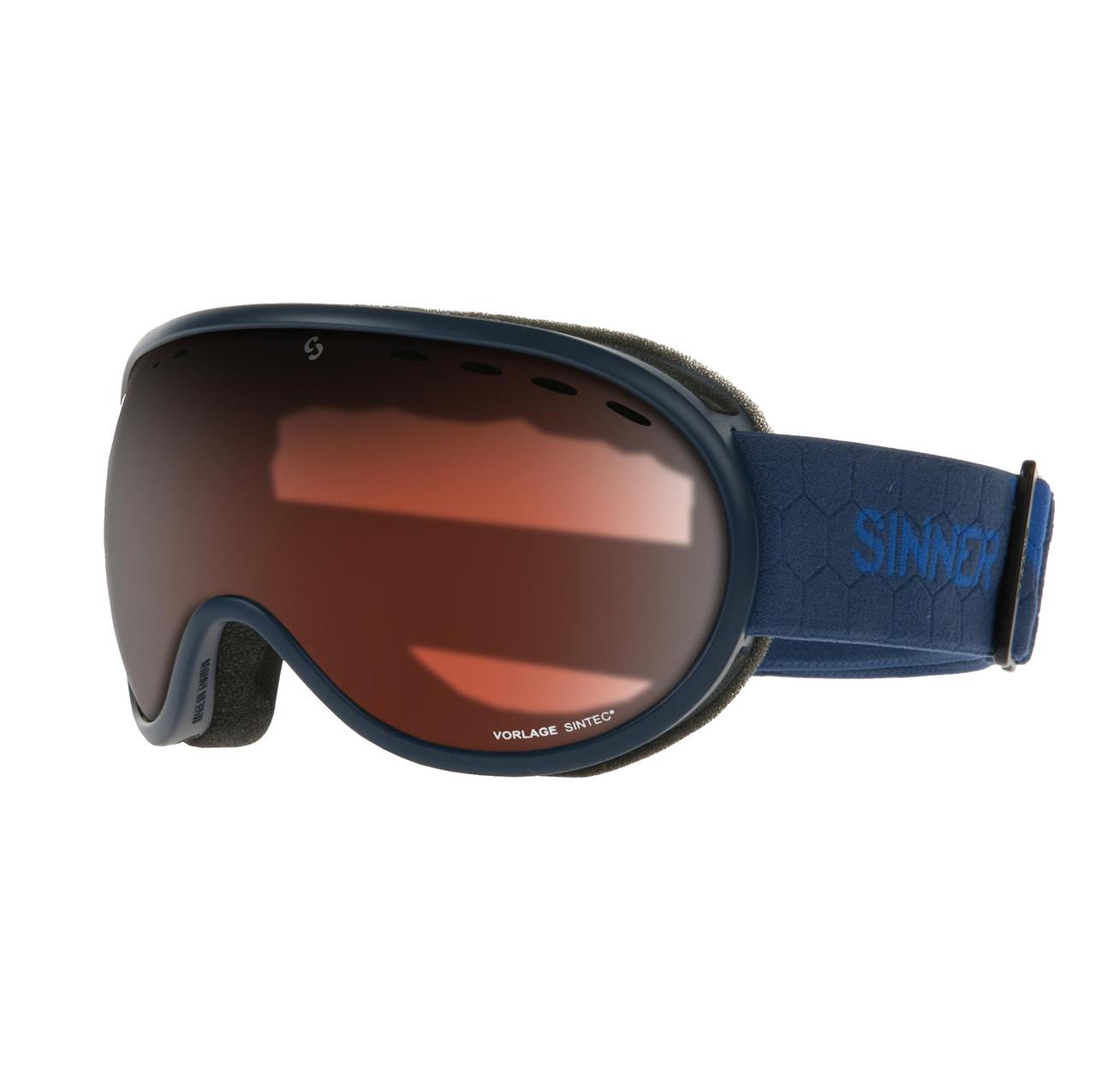 Маска гірськолижна Sinner VORLAGE Matte Dark Blue-Orange Sintec