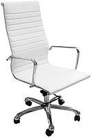 Кресло офисное компьютерное для директора SOLANO белое, фото 1