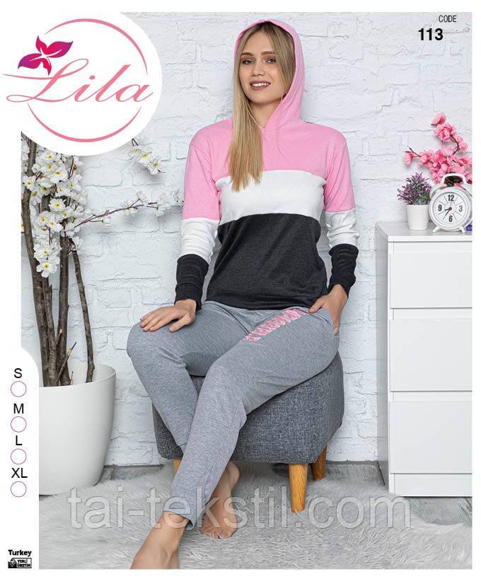 Костюм женский кофта ( свитшот) + штаны с карманами качество ИНТЕРЛОК Турция