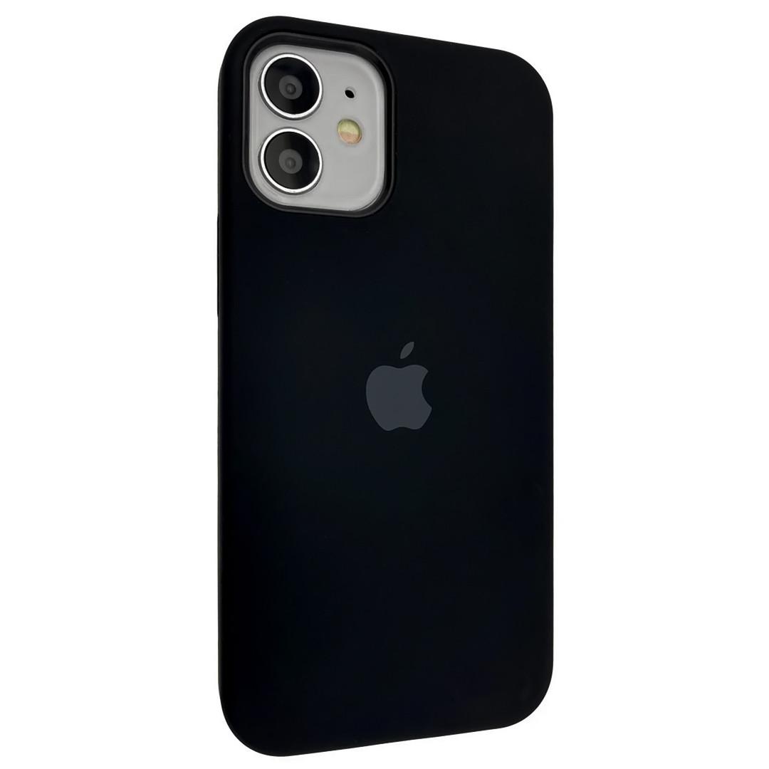 Силиконовый чехол Silicone case full cover для Apple iPhone 12 Mini   Black   DK