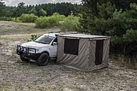 Автомобильный тент с боковой стенкой и комната из влагостойкой ткани 2.5 х 2.5 метра: комплект для кемпинга