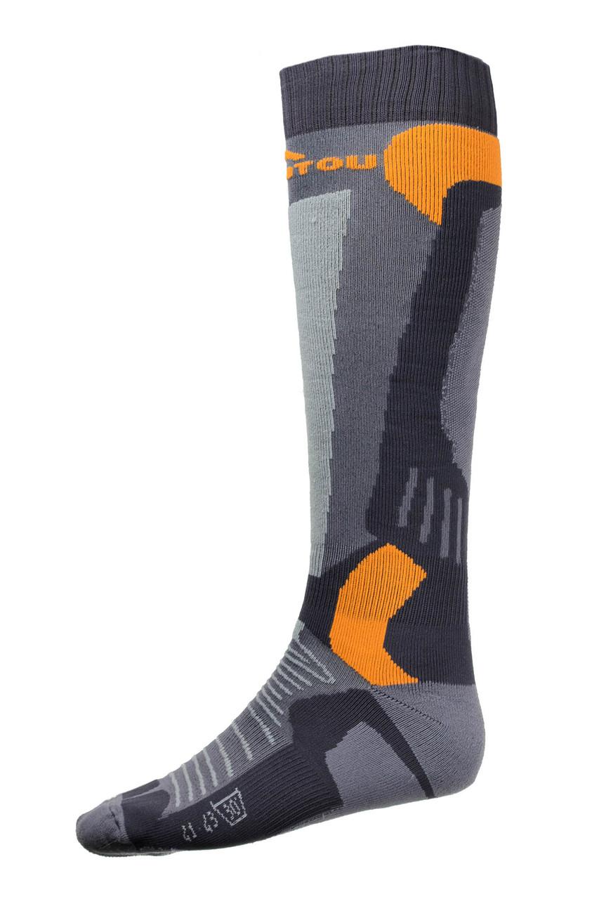 Лижні Шкарпетки Emmitou 35-37 Black-Grey-Orange