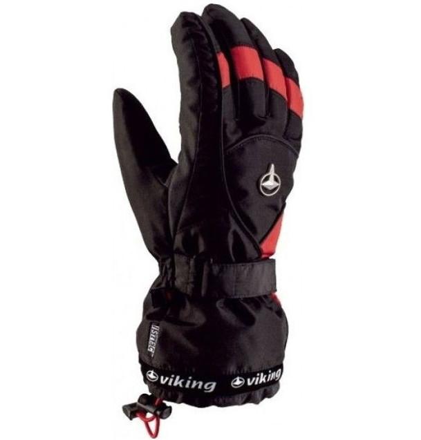 Рукавиці гірськолижні Viking Dexter 8 M Чорний-Червоний 34