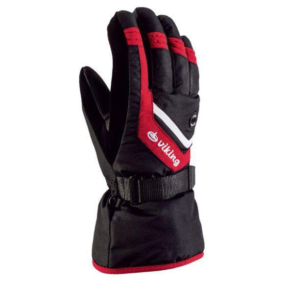 Рукавиці гірськолижні Viking Cromac 7 S Чорний-Червоний 34
