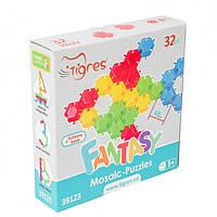 "Мозаика - пазлы, шестиугольная мозаика для детей ""Фантазія"" 32 элемента, 39123"