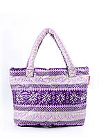 Дутая сумка POOLPARTY с северным узором pp11-purple