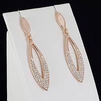 Привлекательные серьги с кристаллами Swarovski, покрытые золотом 0179