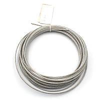 Трос стальной оцинкованный DIN 3055 2 мм (отрезок)