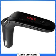 FM модулятор Car G6, MP3 nрансмиттер, фм модулятор для авто, Трансмиттер с экраном, блютуз модулятор, фото 2