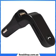 FM модулятор Car G6, MP3 nрансмиттер, фм модулятор для авто, Трансмиттер с экраном, блютуз модулятор, фото 3