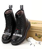 Мужские ботинки Sex Pistols & Dr. Martens God Save the Queen Доктор Мартинс высокие на шнуровке с мехом