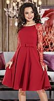 Вечернее бордовое платье большого размера (S, M)
