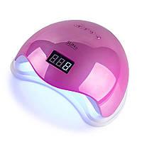 LED/UV Лампа SUN-5 гибридная (с дисплеем) зеркально-розовая 48 Вт BP