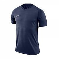 Футболка игровая NФутболка Nike Dry Tiempo 894230-411 темно-синяя