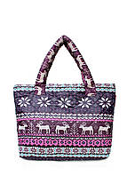 Дутая сумка POOLPARTY с оленями pool-69-pink-blue