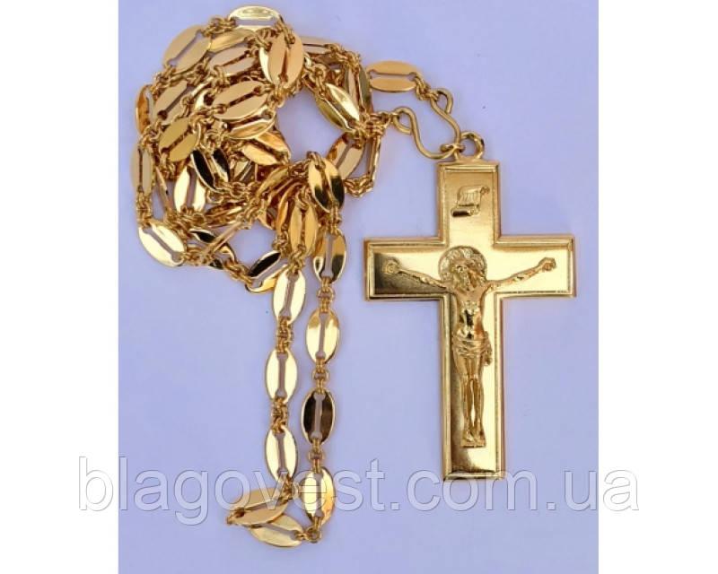Крест протоиерейский кабинетный золоч Софрино