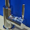 Высокий латунный смеситель для кухни на мойку Haiba HANS 011 (HB0167) цвет нержавеющая сталь, фото 3