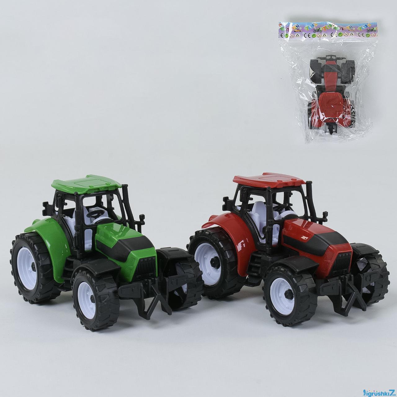 Трактор DS 19 A (192/2) инерция, 2 цвета, 1шт в кульке