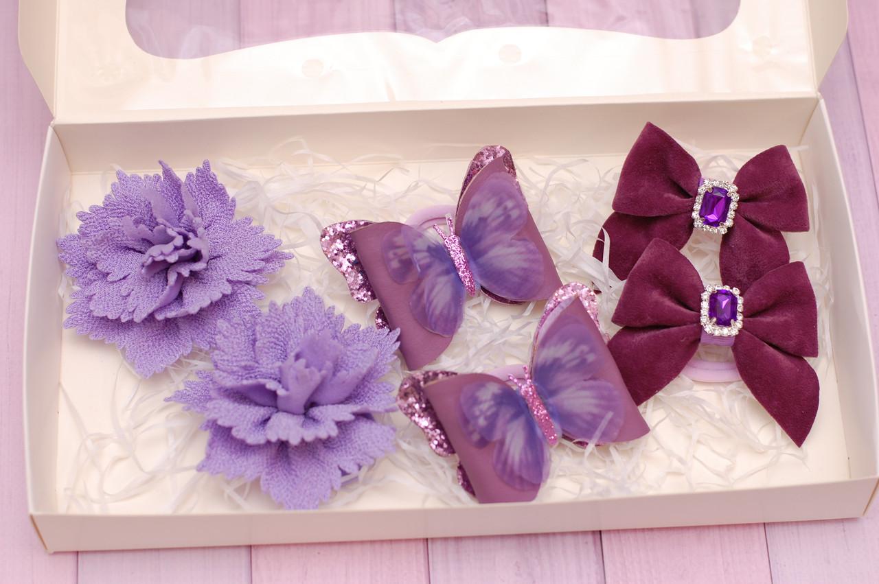 Набор украшений сиренево-фиолетовый 331 Об