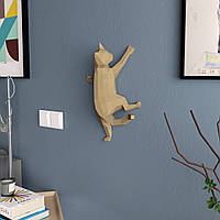 """3д модель """"Милый Котик"""" фигура из бумаги для детского творчества Papercraft украшение интерьера паперкрафт"""