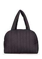 Стеганая сумка-саквояж POOLPARTY ns7-black-fir