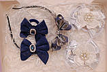 Набор украшений белый с темно-синим 333 Об, фото 3