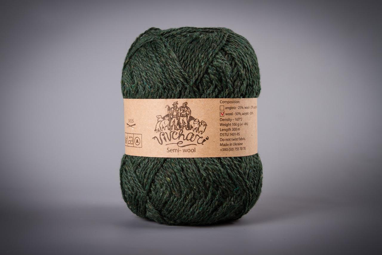 Пряжа полушерстяная Vivchari Semi-Wool, Color No.407 болотный