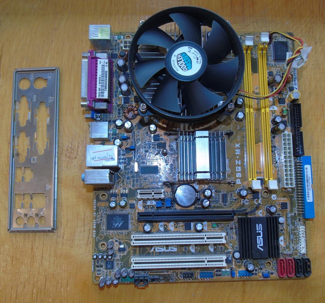 775 Материнская плата Asus P5GZ-MX + Процессор Celeron D 352 #7