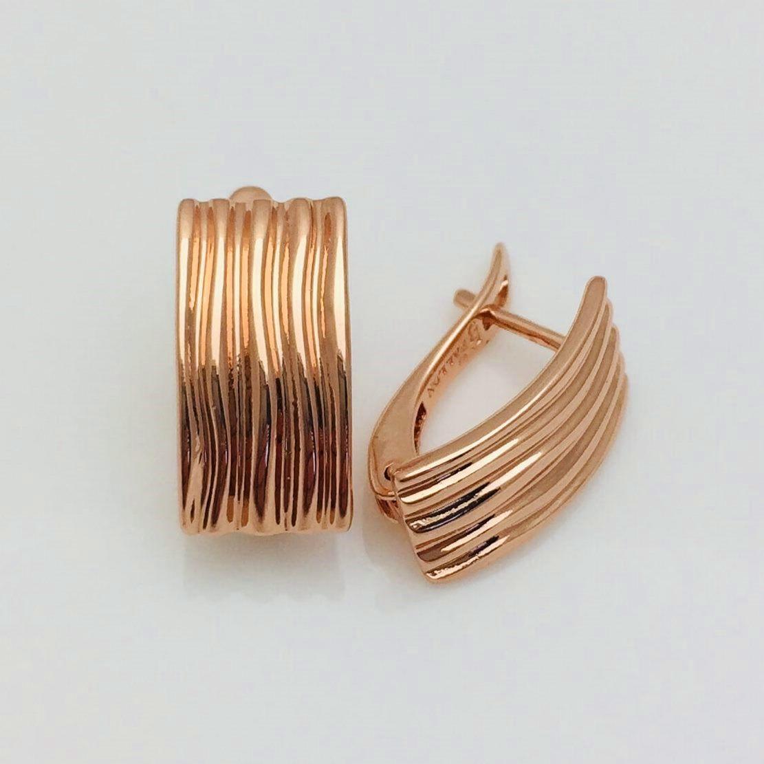 Сережки FJ FALLON довжина 1.7см медичне золото F1067