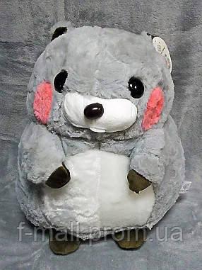 Плед мягкая игрушка 3 в 1 Бобёр серый  (76)