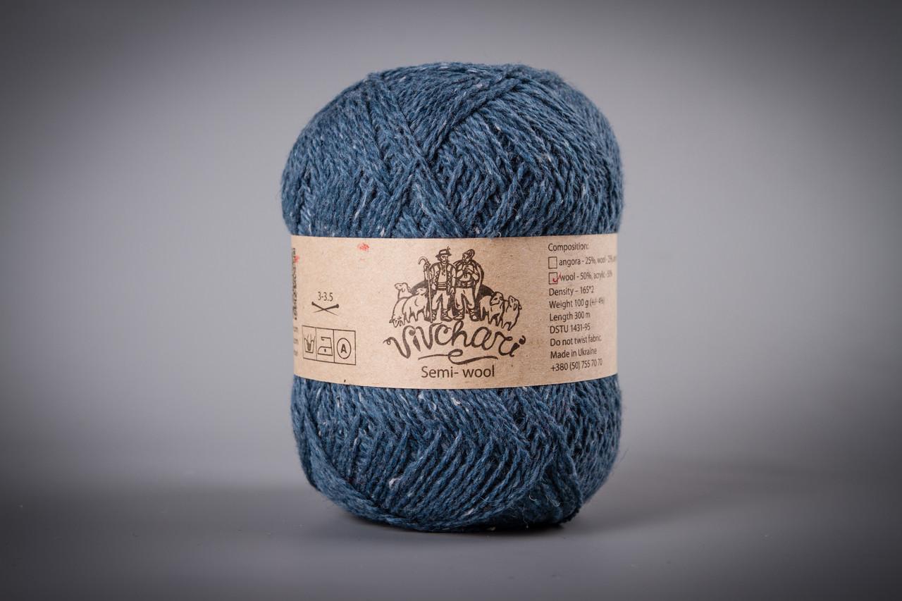 Пряжа полушерстяная Vivchari Semi-Wool, Color No.409 джинс