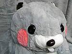 Плед мягкая игрушка 3 в 1 Бобёр серый  (76), фото 2